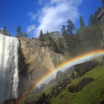 Yosemite Waterfall - Somewhere under the Rainbow