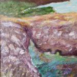China Cove, Carmel by the Sea - Acrylic Plein Air painting by Lori Thompson