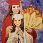 Kaytie Graduation painting by Lori Thompson