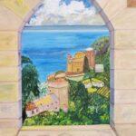 Bella Vista Italy painting through a window
